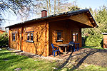 Holzblockhaus in Seedorf am Malchiner See, Mecklenburgische Seenplatte