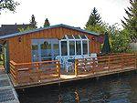 Ferienhaus mit Bootshaus am Schwarzer See - Mecklenburgische Seenplatte