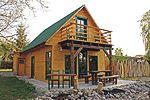 Holzblockhaus mit Seeblick auf den Malchiner See -Urlaub mit Hund