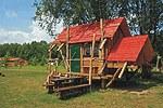 Übernachtungshütte auf dem Campingpark Seedorf am Malchiner See Mecklenburgische Seenplatte